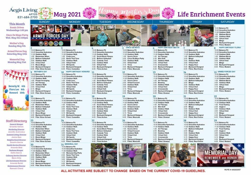 Aptos May 2021 Calendar