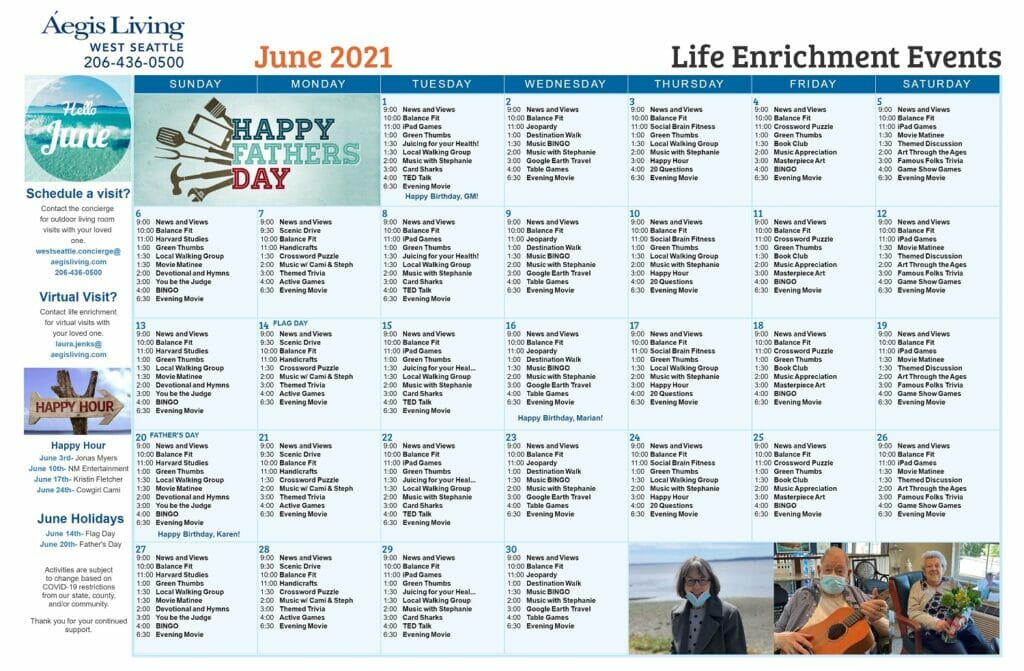 West Seattle Calendar- June 2021