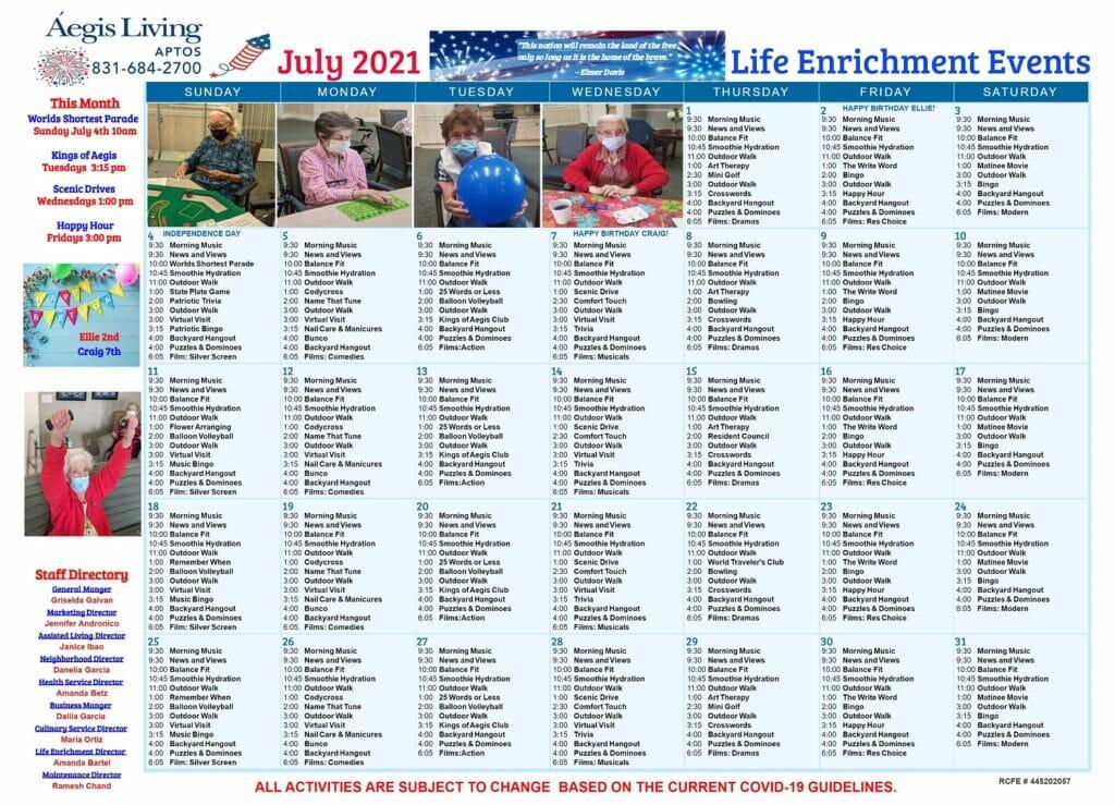 Aptos AL July 2021 Calendar