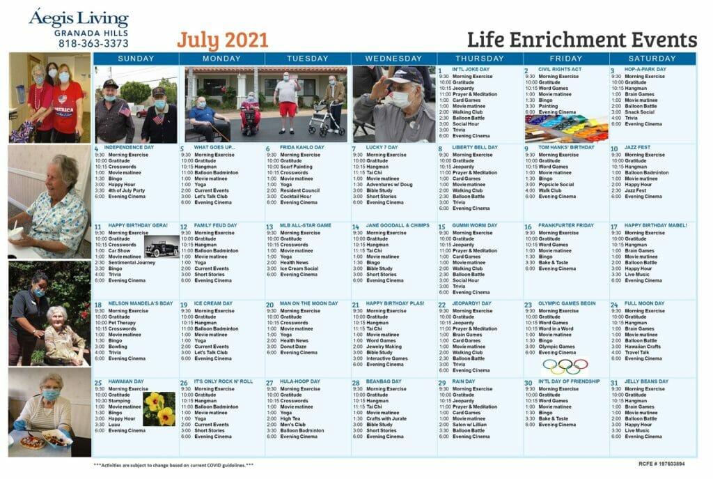 GH AL July 2021 Calendar