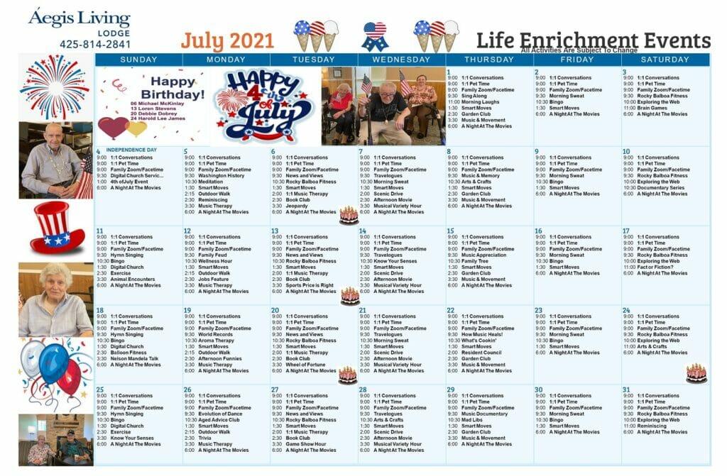 Lodge AL July 2021 Calendar