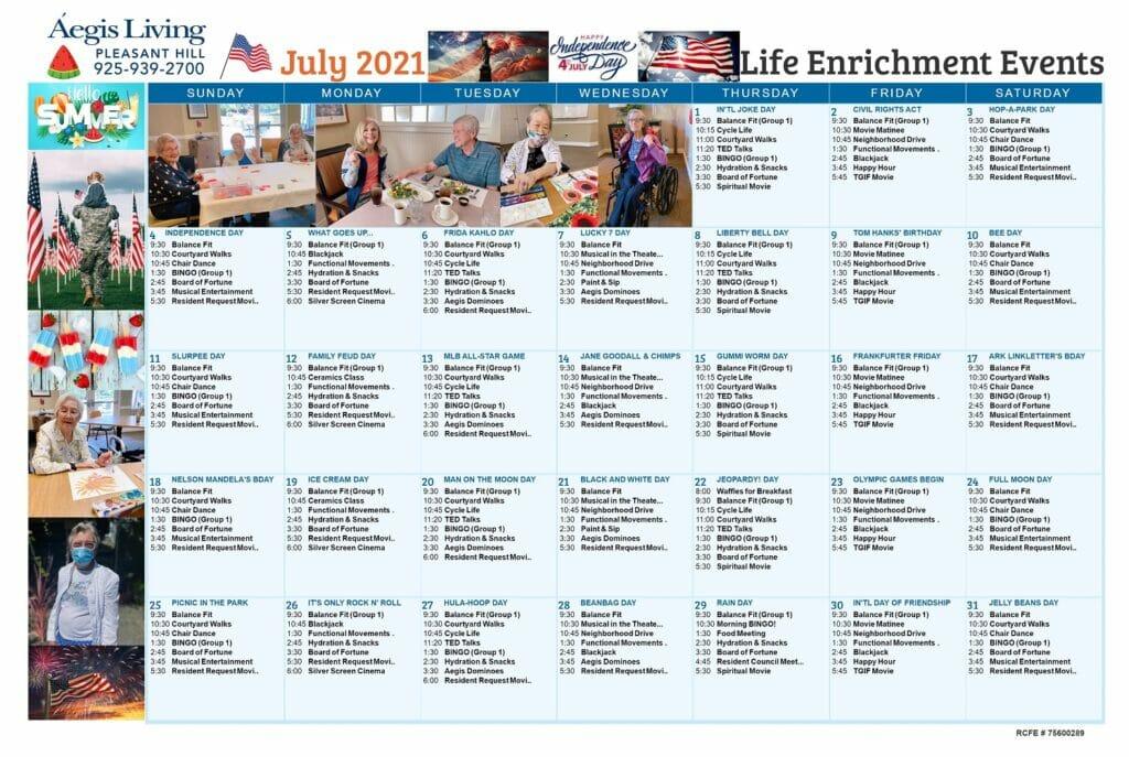 Pleasant Hill AL - JULY 2021 Calendar