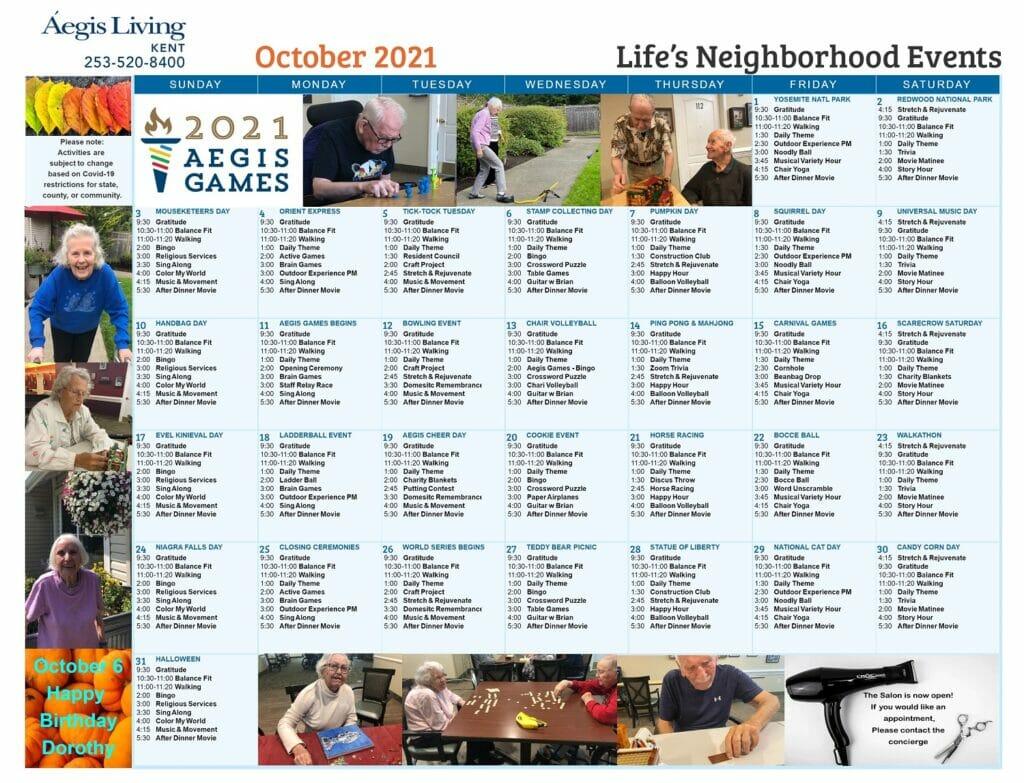 Kent Calendar October2021