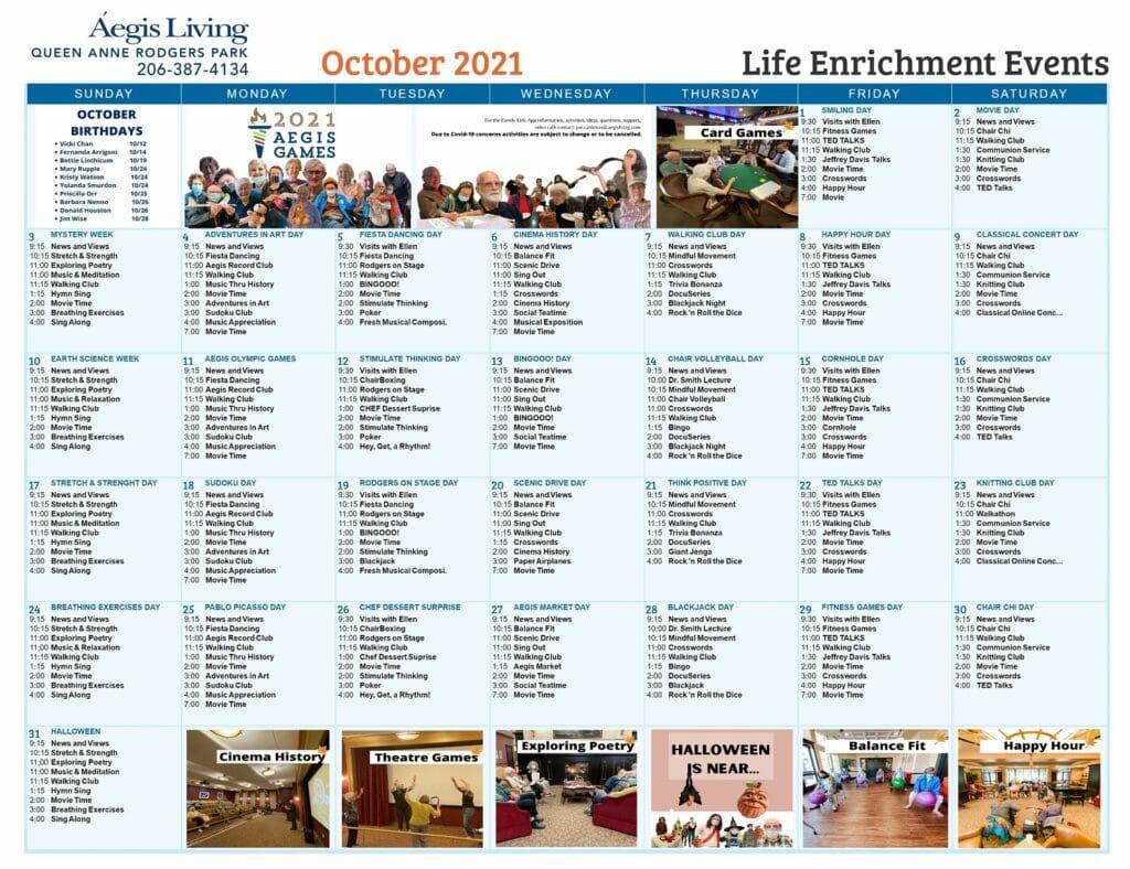 Rodgers Park Calendar OCT21